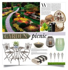 """Garden Picnic"" by clotheshawg ❤ liked on Polyvore featuring interior, interiors, interior design, hogar, home decor, interior decorating, Linea, Menu, H&M y EcoSmart Fire"