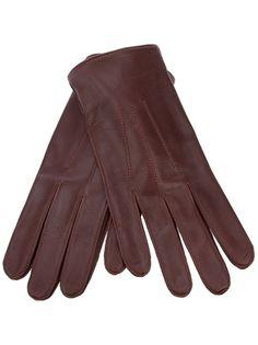 DENTS - gants cuir marron (68e)