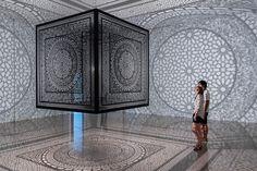 Anila Quayyum Agha -Intersections Granada, Laser Cut Box, Colossal Art, Light And Shadow, Islamic Art, Installation Art, Art Installations, American Artists, Bella