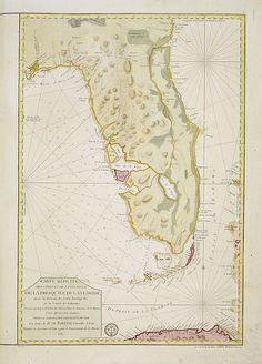 1780 French map of Florida