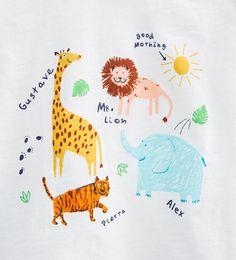 Image 5 of Animal print T-shirt from Zara