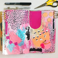 A Sketchbook Page by Samantha Russo Shared for Sketchbook Conversations on the My Giant Strawberry Blog