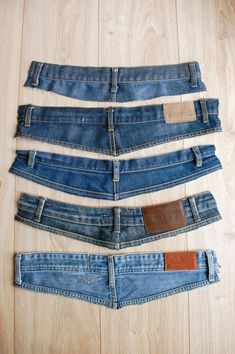 Jean Crafts, Denim Crafts, Upcycled Crafts, Clothes Crafts, Sewing Clothes, Reuse Old Clothes, Creation Couture, Jeans Material, Recycled Denim