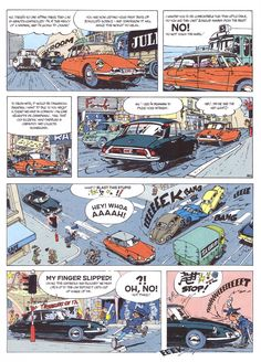 Any excuse for some Franquin art. He loves his cars.