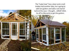 salvage door and window greenhouse - part 1 -Flea Market Gardening