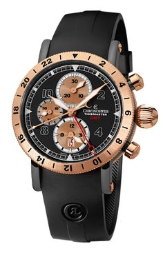 Chronograph GMT  All around the world: With a second time zone and date, the large automatic chronograph offers perfect orientation at just one glance. Case