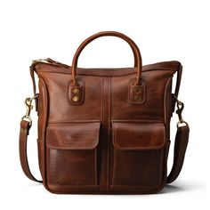 Small Leather Handbag Tote Bag - Brown Leather | J.W. Hulme Co.
