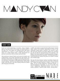 Mandy Coon @Milk Made #MADEfw #NYFW
