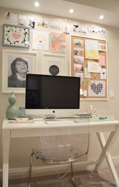 fresh creative small corner office space from sarahmstyle.ca
