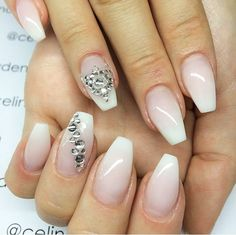 French ombre, ballerina/coffin shape