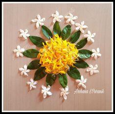 Simple Rangoli Designs Images, Rangoli Designs Flower, Colorful Rangoli Designs, Rangoli Designs Diwali, Flower Rangoli, Beautiful Rangoli Designs, Flower Designs, Diwali Decorations At Home, Festival Decorations