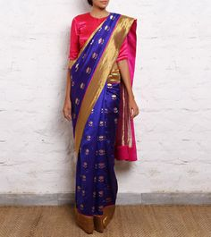 Chanderi Saree RAW MANGO
