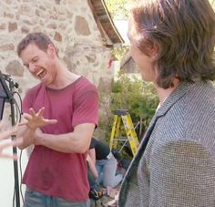 Michael Fassbender & James McAvoy on the set of X Men Apocalypse