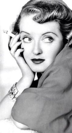 Bette Davis. Wide eyed diva who always stole the show and then commanded it!