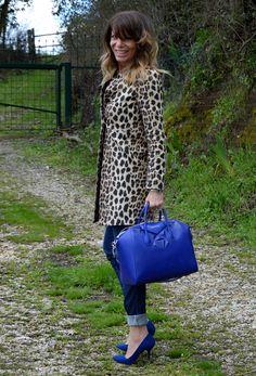 Royal blue and animal prints