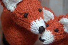 Knit Fox Family Waldorf Stuffed Soft Woodland by SweetBauerKnits, $110.00