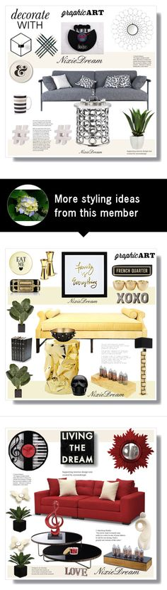 """""""ND"""" by stranjakivana on Polyvore featuring interior, interiors, interior design, home, home decor, interior decorating, LA CHANCE, Faber-Castell, Kelly Wearstler and Southern Enterprises"""