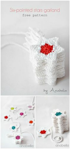 How To Make A Crochet Stars Garland Pattern - Crochet Garland Pattern - 73 Free Crochet Garland Ideas - DIY & Crafts