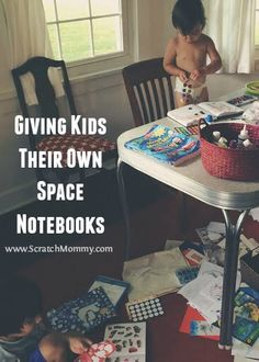 My husband and I started to lose track of what artwork should be saved or sent to the recycle bin, so we decided to give our kids their own space notebooks. Todays Parent, Conscious Parenting, Eco Baby, Kids Growing Up, Natural Parenting, Attachment Parenting, Business For Kids, Giving, Toddler Activities