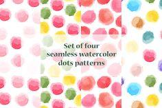 Seamless watercolor pink patterns by Alenarozova on @creativemarket