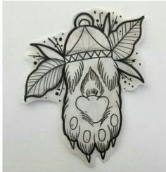 Lucky Cat paw tattoo