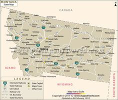 Awesome MAP OF MONTANA WYOMING IDAHO Tours Maps Pinterest - United states map montana