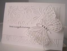 Julie's Inkspot: A Few CAS Cards - beautiful butterfly