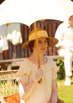 Lady Mary | Downton Abbey    THE GARDEN PARTIEST- YOU get a parasol and YOU get a parasol!