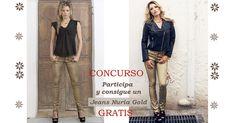 ¿Quieres llevarte gratis este exclusivo Jeans Nuria Denim Gold de Tanit Jeans Ibiza?