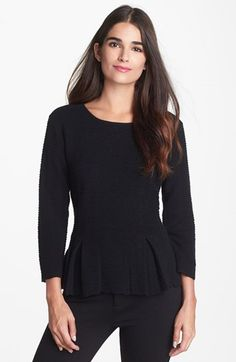 Classiques Entier® 'Staccato' Peplum Sweater available at #Nordstrom