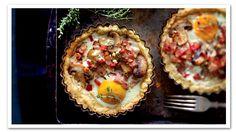 Bacon, Egg & Mushroom Tart