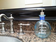 Don Julio Bathroom Soap Dispenser.  Repurposed Tequila bottle with sturdy vinyl label by #LookingSharpCactus on Etsy www.etsy/shop/lookingsharpcactus.com