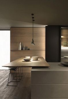 Modern Kitchen Interior Functionality and design hand in hand. A Blade Modern Kitchen Interior Functionality and design hand in hand. A Blade Kitchen Bar Design, Interior Design Kitchen, Modern Interior Design, Interior Architecture, Studio Interior, Classic Interior, Diy Interior, Kitchen Layout, Kitchen Colors