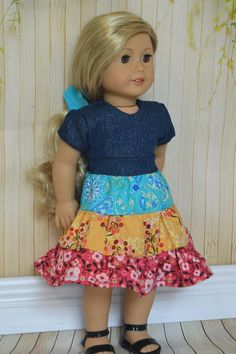 18 inch doll clothes Pattern dress American girl doll clothes