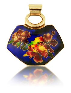 Hibiscus in Blue Pendant-Patsy Croft
