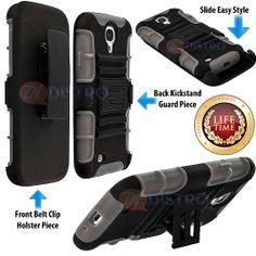 Amazon.com: myLife (TM) Gray + Black Shockproof Survivor (Built In Kickstand + Belt Clip Holster) Case for the Samsung Galaxy S4, I9500, I95...