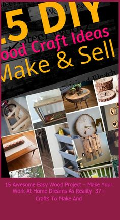 Handmade items have been one of the top trending gift ideas on Pinterest for several years now. The popularity is NOT slowing down! It's best to start by choosing a niche to focus on. Starting your… #Awesome #Project #Reality #Dreams #Easy crafts to make and sell ideas 15 Awesome Easy Wood Project – Make Your Work At Home Dreams As Reality 37+ Crafts To Make And