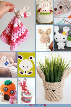 to It: Free Crochet Bunny Patterns Free Easter Bunny Rabbit patterns from AllFreeCrochet!Free Easter Bunny Rabbit patterns from AllFreeCrochet! Crochet Bunny Pattern, Easter Crochet Patterns, Crochet Rabbit, Crochet Patterns For Beginners, Crochet Ideas, Amigurumi Patterns, Knitting Patterns, All Free Crochet, Easy Crochet