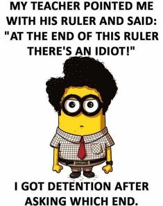 25 Funny Minions Memes You Can't Resist Laughing At | The Funny Beaver Funny Minion Pictures, Funny Minion Memes, Funny Jokes To Tell, Funny School Jokes, Minions Quotes, Crazy Funny Memes, School Humor, Really Funny Memes, Funny Relatable Memes