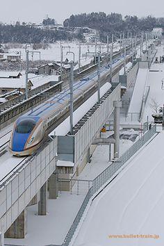 北陸新幹線 W7系 黒部宇奈月温泉~富山(富山県) Hokuriku Bullet Train Kurobe Unazuki Onsen ~Toyama