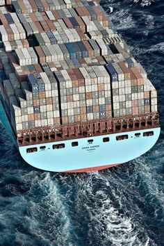 Emma Maersk - Largest shipping company in the world - Danes rule the waves - Vikings - Merchant Navy, Merchant Marine, Restaurant Hotel, Event Logistics, Tanker Ship, Maersk Line, Warehouse Design, Buy A Boat, Speed Boats