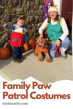 Family Paw Patrol costume set that was handmade. The Paw Patrol are on a roll this Halloween and these costumes are easy to make! Family Costumes, Diy Costumes, Halloween Costumes, Paw Patrol Costume, Used Power Tools, Menstrual Pads, Create A Family, Wet Bag, Cloth Diapers