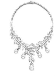 A diamond and  cultured pearl necklace, by Van Cleef & Arpels