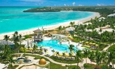 Sandals Emerald Bay    Great Exuma, Bahamas    Best for: Golfers, romantics  Set on a one-mile stretch of idyllic white-sand beach on Grand Exuma's sparkling Emerald Bay, this 2010-debuted Sandals Resort (formerly a Four Seasons) features an oceanfront Greg Norman-designed championship golf course, a marina, and a Red Lane Spa. The 249-room property sprawls out over 500 tropical acres and features three pools, seven restaurants, six tennis courts, and comprehensive watersports offerings…