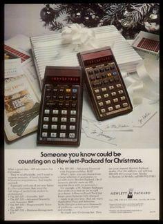 1978 Hewlett Packard HP 38E HP 33E Calculator Photo Vintage Christmas Print Ad | eBay