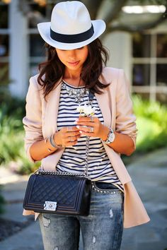 VIVALUXURY - FASHION BLOG BY ANNABELLE FLEUR: BLUSH N' BLUE