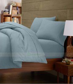 Light Blue Double Egyptian Cotton Quilt Duvet Cover + Sheet Choice - 1000TC Double Duvet Covers, Single Duvet Cover, King Duvet, Queen Duvet, Grey Duvet, Egyptian Cotton Bedding, Quilt Cover Sets, Cotton Quilts, Twin