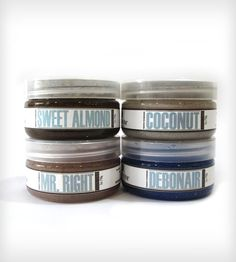 Manly Sugar Scrub Gift Set - Mint Julep, Debonair, Mr. Right, Sunday's Best   Men's Grooming   Southern Hospitality   Scoutmob Shoppe   Prod...
