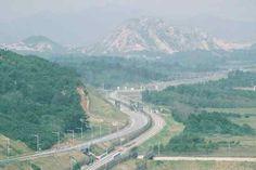 Donghae-Bukbu Line On Korean Dmz which dividing North and South Korea.