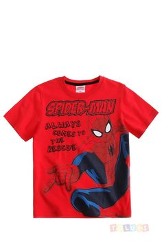 T-shirt Spider-Man rouge https://www.toluki.com/prod.php?id=1125 #enfant #Toluki #Spiderman